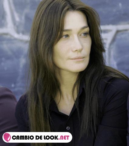 sin maquillaje Carla Bruni
